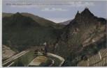 AK Altenahr Blick von Reimertshofen mit Burg Are und Eisenbahn-Viadukt 1910