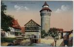 AK Nürnberg Vestnerturm u. tiefer Brunnen 1910