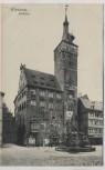 AK Würzburg Rathaus mit Menschen 1907