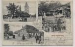 AK Gruss aus Horburg-Maßlau Kirche Gasthof Kegelbahn b. Leuna 1909 RAR
