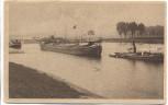 VERKAUFT !!!   AK Lampertheim Rheinhafen mit Dampfer 1918