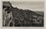 AK Foto Heiligenberg (Bodenseekreis) Freundschaftshöhlen mit Schloß 1940