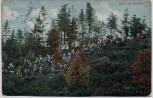 AK Rast im Walde Soldaten mit Pickelhaube Stempel Dresden Neustadt 1914