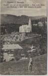 AK Borsec Röm. kath. Kirche mit Pfarrhaus Mann Borszék Siebenbürgen Rumänien 1924