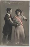 AK Foto Neueste Banderole Steuer Damen-Steuer Humor 1911