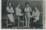 AK Künstler The 4 Smiles moderne Akrobaten 1912