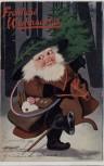 Künstler-AK Fröhliche Weihnachten Weihnachtsmann im Wald No. 330 Oilette 1911