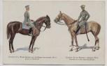 AK Deutschlands Armee in feldgrauer Uniform zu Pferde Grenadier Freiherr von Derfflinger Dragoner von Bredow Feldpost 1917 RAR