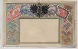 Präge-AK Briefmarken Deutsches Reich mit Wappen 1920