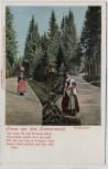AK Liedkarte Gruss aus dem Schwarzwald Waldandacht 1910