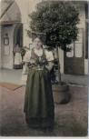 AK Marienbad Cafe Egerländer Egerländerin in Tracht Mariánské Lázně Böhmen & Mähren Tschechien 1909