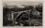 AK Foto Wuppertal Elberfeld Sonnborner Brücke mit Zug 1935