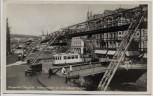 AK Foto Wuppertal Elberfeld Schwebebahn an der Isländer Brücke mit Straßenbahn 1935 RAR