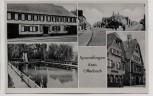 AK Mehrbild Sprendlingen Gasthaus zur Krone Schwimmbad Ortsansicht 1955
