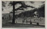 AK Foto Braunlage im Oberharz Verlobungswiese mit Musikpavillon viele Menschen 1940