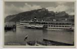 AK Foto Festung Ehrenbreitstein mit Dampfer Vaterland Rhein Koblenz 1940