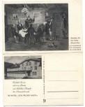 AK Klappkarte Hotel Wildemann b. Clausthal-Zellerfeld Oberharz mit Sage vom Wilden Mann 1930