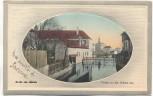 AK Gruss aus Zabern Saverne Partie von der Brücke aus Elsass Bas-Rhin Frankreich 1919