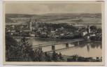 AK Foto Vilshofen an der Donau Ortsansicht mit Brücke 1940