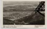 AK Foto Blick vom Schauinsland nach Freiburg und Rheinebene Fernrohraufnahme 1956