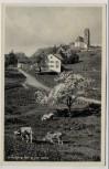 AK Oy-Mittelberg 1036 m von Osten Kirche und Kühe 1940