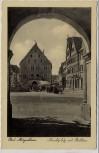 AK Foto Bad Mergentheim Marktplatz mit Rathaus 1940