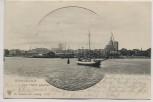 AK Stralsund vom Hafen gesehen mit Schiff 1901