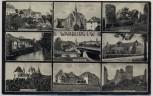 AK Mehrbild Warburg in Westfalen Demelbrücke Lyceum Kattenturm ... 1940