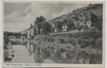 AK Bad Mergentheim Partie an der Tauber mit Brücke 1940