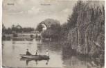AK Neuss Stadtgarten mit Boot 1920