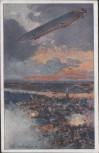 AK Zeppelin über Antwerpen Deutscher Luftflotten-Verein 1916
