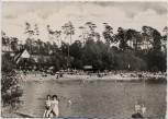 AK Foto Auto-Rast und Strandbad Seelze Blauer See 1960