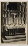 AK Foto Marburg a. d. Lahn St. Elisabethkirche Innenansicht Altar 1940