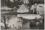 AK Foto Mehrbild Gommern Erholungsgebiet Zeltplatz 1981