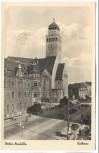 AK Berlin Neukölln Rathaus mit Autos und Menschen 1950