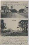 AK Gruss aus Friedrichsthal ( Mark ) Konditorei Cafe Carl Haase Dorfstrasse b. Oranienburg 1907 RAR
