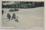 AK Oberhof in Thüringen Bobrennen Große Kurve Bob Bobbahn viele Menschen 1930