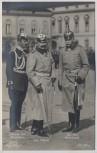 AK Foto Der Kaiser mit General von Friedeburg und Ex. von Plettenberg 1.WK Verlag Gustav Liersch 1914