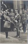 AK Foto Kaiser Wilhelm mit General v. Emmerich dem Sieger von Lüttich 1. WK Verlag Gustav Liersch 1915