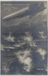 AK Ein Zeppelin Luftschiff bombardiert Lüttich Belgien 1. WK Verlag Gustav Liersch 1914