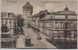 AK Mönchengladbach Viersener Straße mit Wasserturm und Straßenbahn 1920 RAR