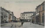 AK Ludwigshafen am Rhein Ludwigsstraße und Wartehalle der Lokalbahn 1907 RAR