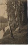 AK Hamburg Bergedorf Birken im Park 2 Kinder 1915 RAR