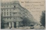 AK Berlin Kreuzberg Königgrätzer Straße Ascanischer Platz mit Hotel Habsburger Hof und Straßenbahn 1906