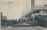AK Bremerhaven Anbordgehen der Kajütspassagiere vor der Lloydhalle viele Menschen Dampfer 1904 RAR