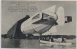 AK Zeppelin  neues Modell Einfahrt in seine Halle mit Booten 1910 RAR