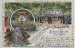 Litho Berlin Kreuzberg Gruss aus dem Belle-Alliance-Theater 1898 RAR