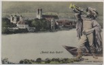 AK Säckingen Behüt dich Gott ! Ortsansicht mit Trompeter 1912
