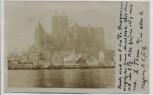 VERKAUFT !!!   AK Foto Meißen Albrechtsburg im Bau mit Dampfer Wilhelmine 1907 RAR