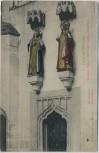 AK Dom zu Meißen Statuen Kaiser Otto und Editha 1910